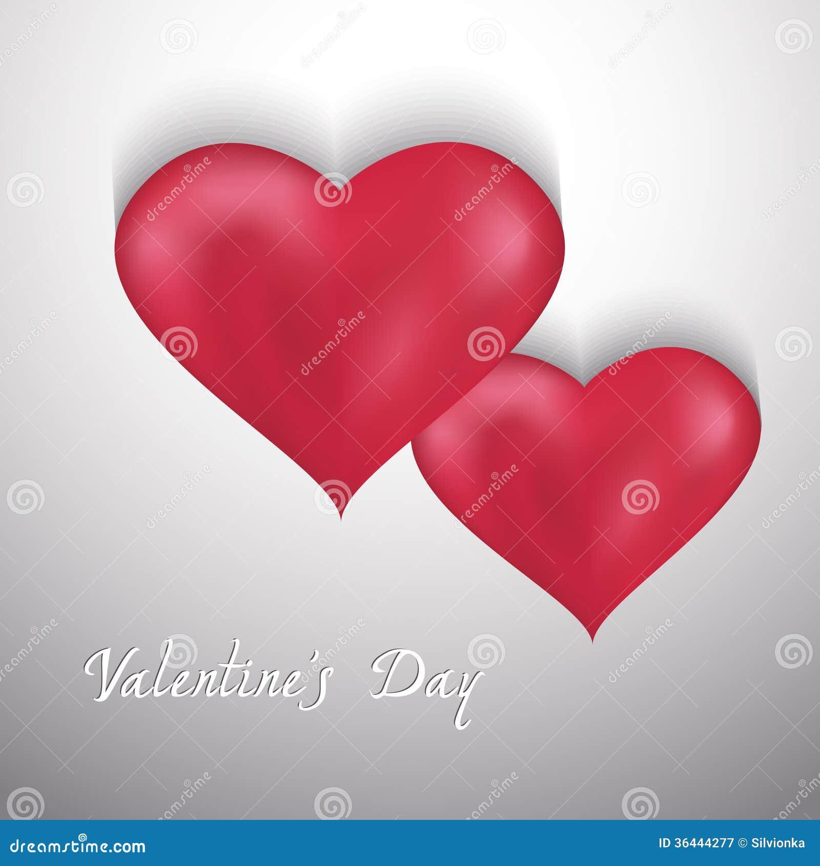 De achtergrond van de valentijnskaartendag met twee harten
