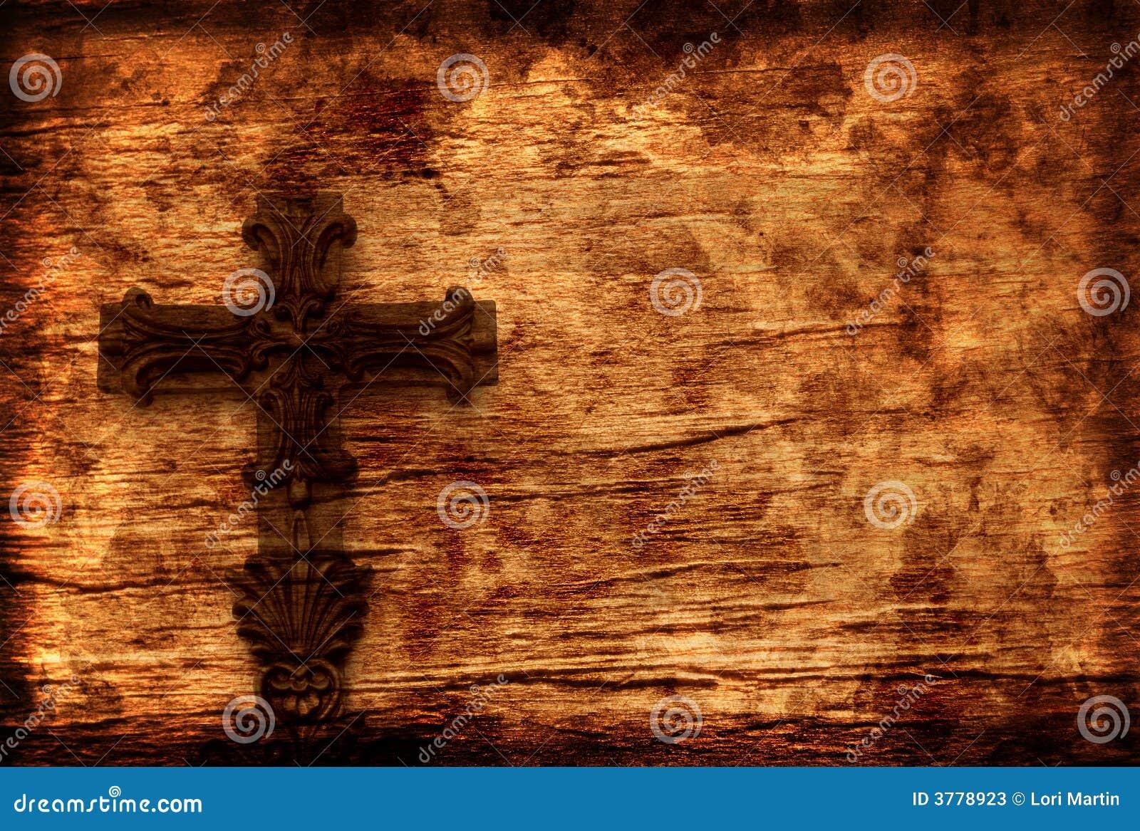 De Achtergrond van Grunge met Kruis