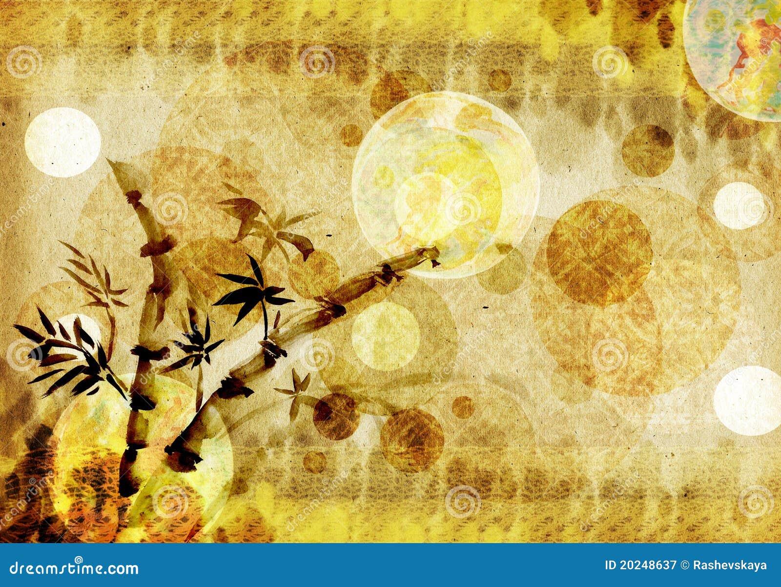 De achtergrond van het bamboe