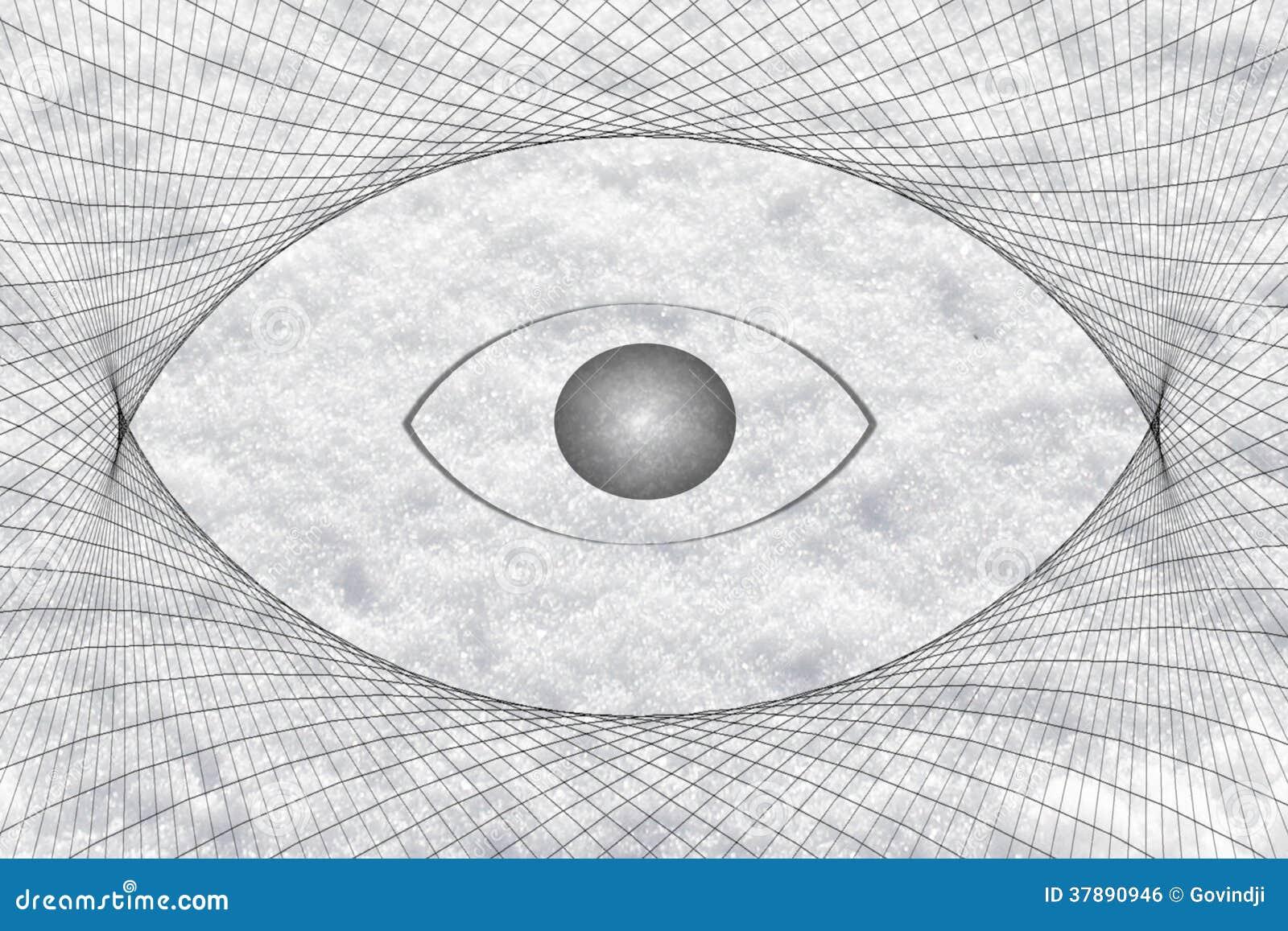 De achtergrond van het de visiepictogram van de oogvorm