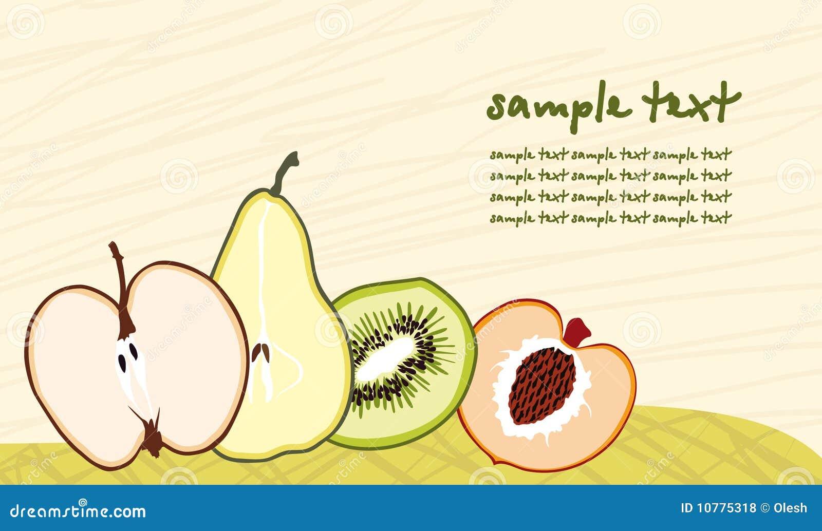De achtergrond van het fruit
