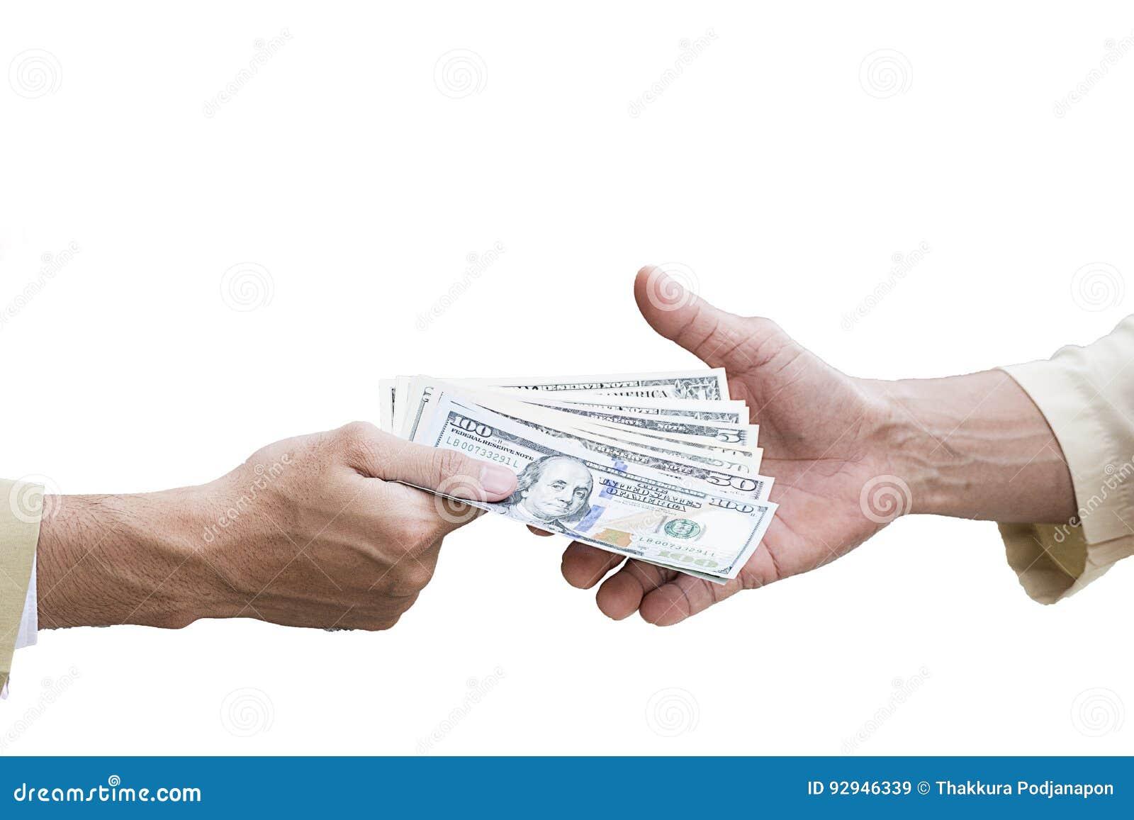 De achtergrond van het geldcontante geld