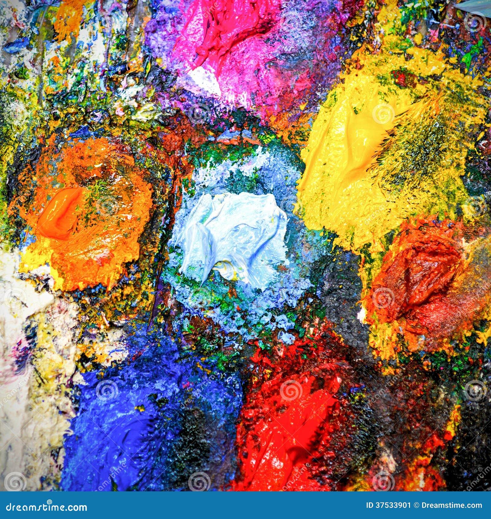 De achtergrond van het kunstpalet stock afbeelding afbeelding 37533901 - Grafiek blauw grijze verf ...