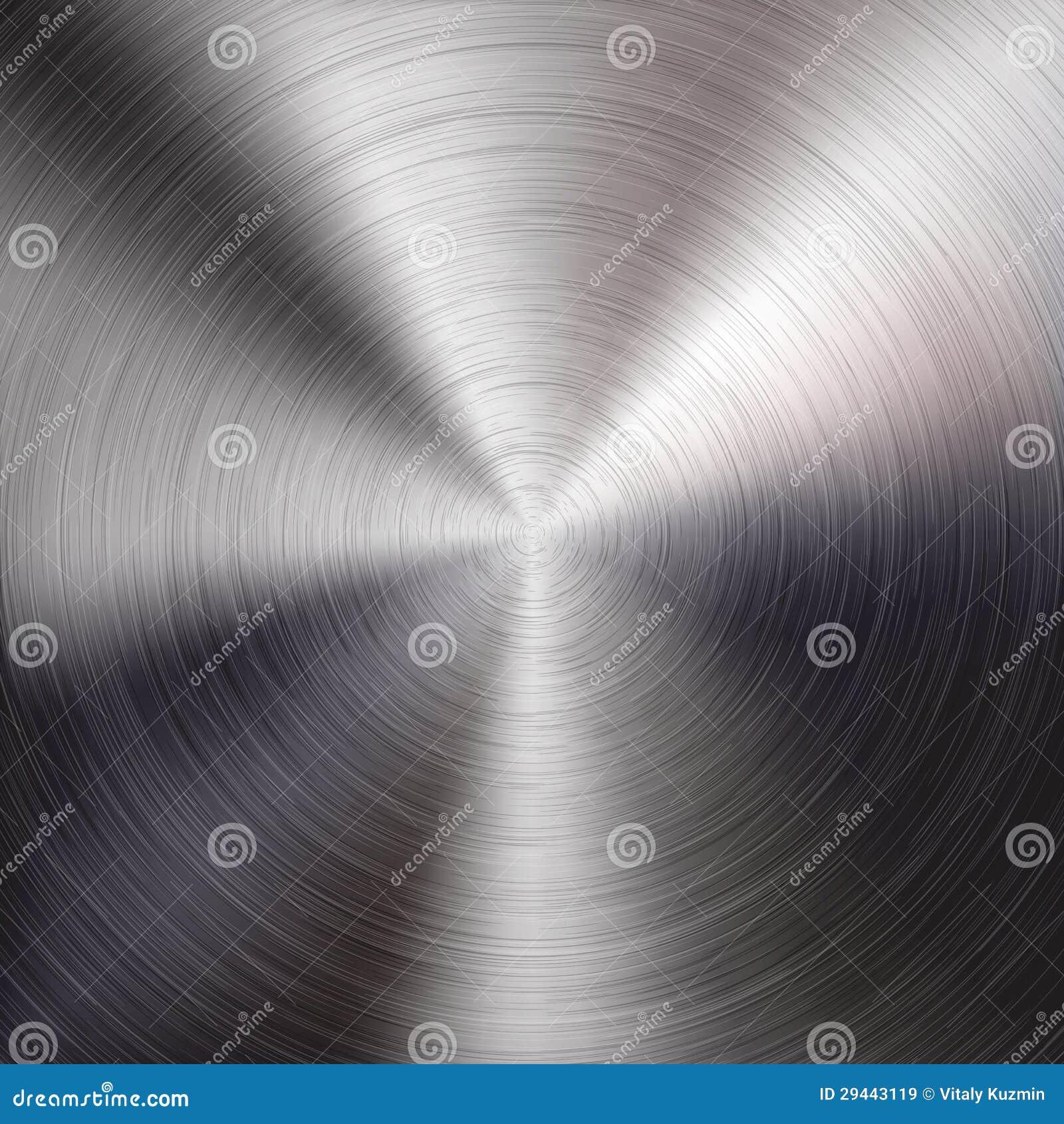 De Achtergrond van het metaal met Cirkel Geborstelde Textuur