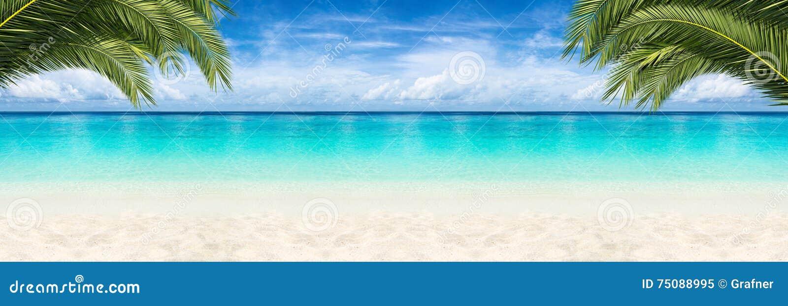 De achtergrond van het paradijsstrand