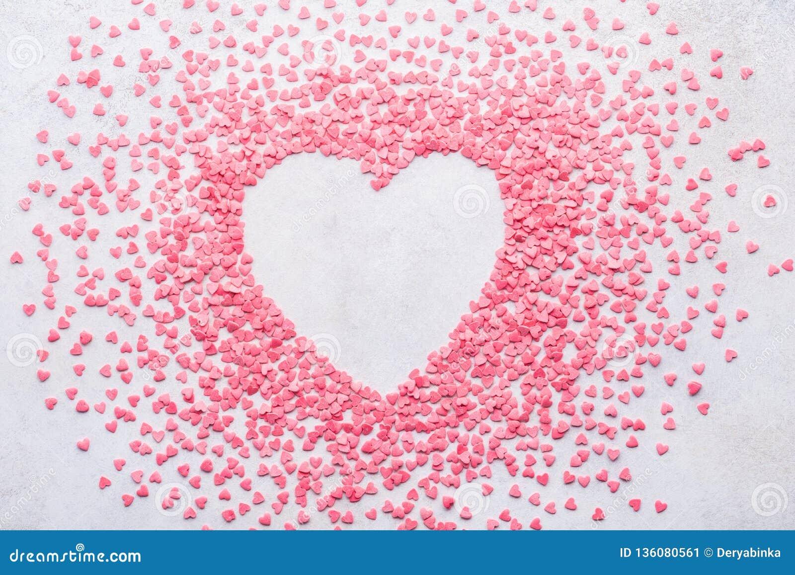 De achtergrond van het suikergoedhart voor de Dag van Valentine De ruimte van het exemplaar