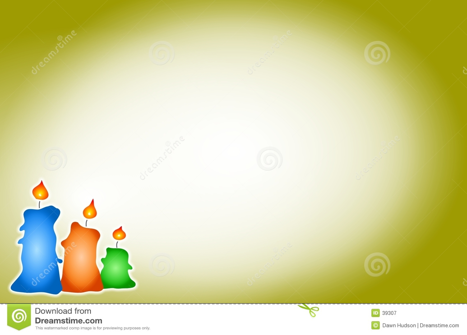 De Achtergrond van kaarsen