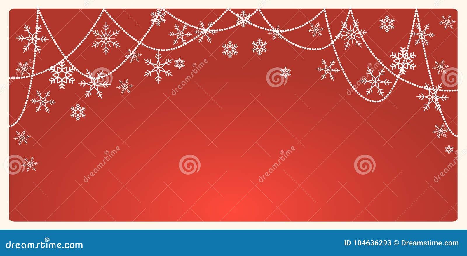 Download De Achtergrond Van Kerstmis Met Sneeuwvlokken En Plaats Voor Tekst Vector Illustratie - Illustratie bestaande uit december, samenvatting: 104636293