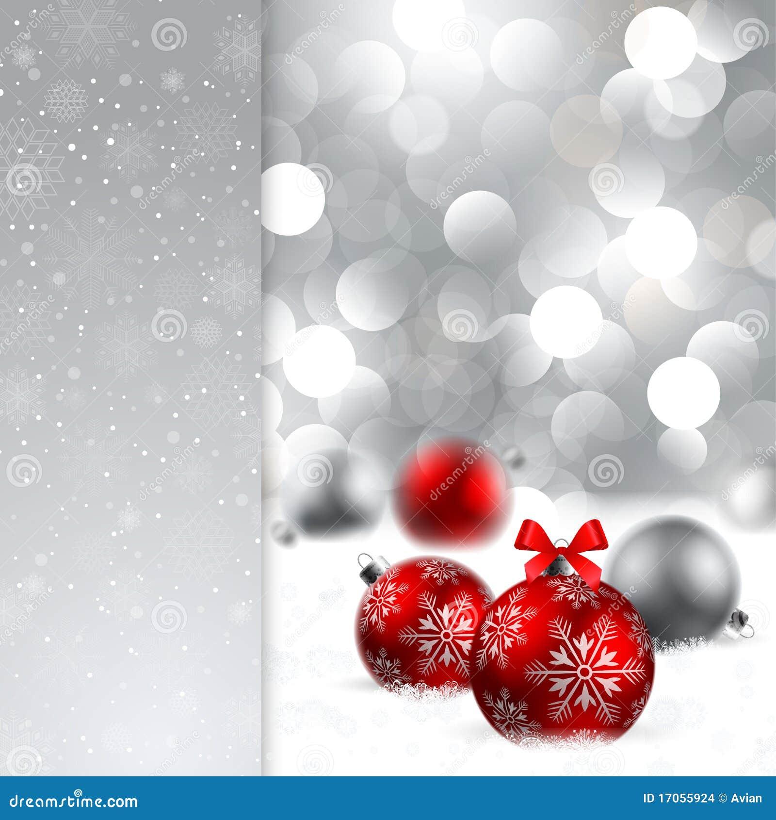 De achtergrond van Kerstmis met snuisterijen en plaats voor te