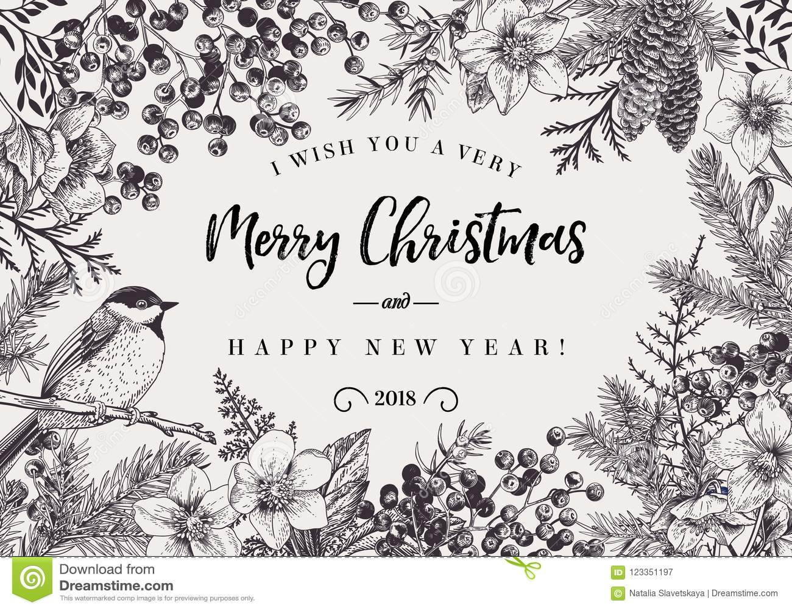 De achtergrond van Kerstmis met vogel