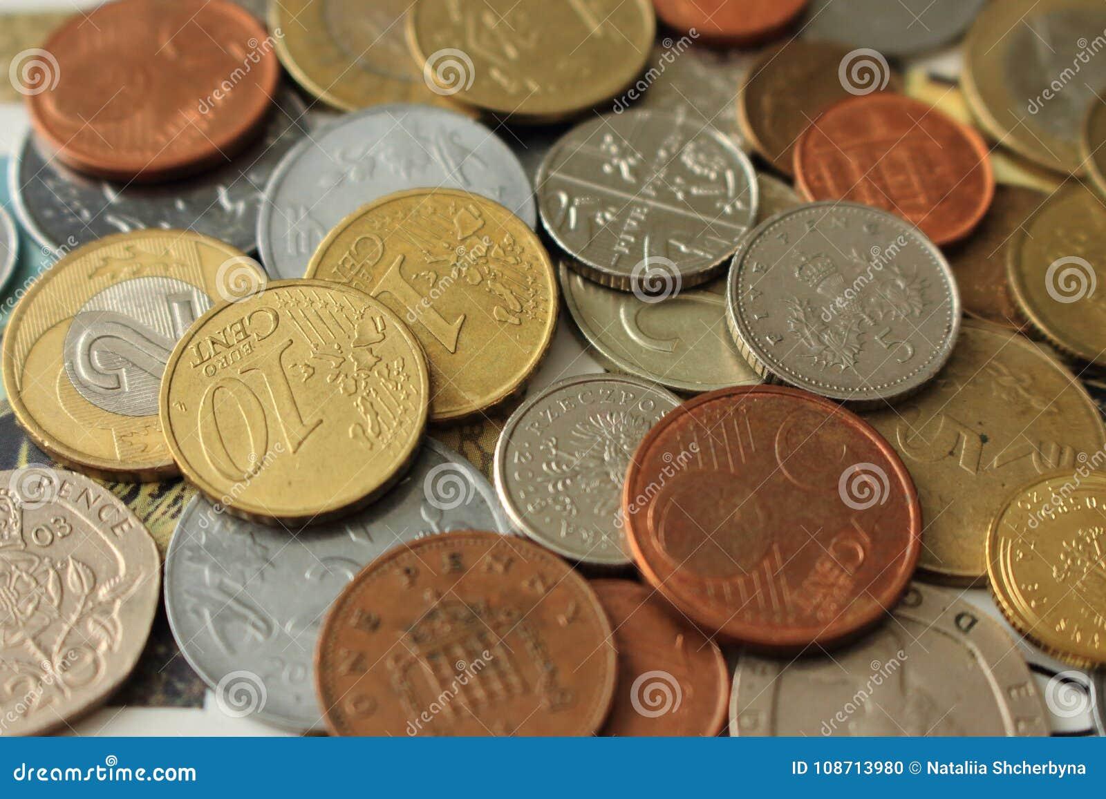 De achtergrond van muntstukken metaalmuntstuk Geld van de verschillende achtergrond van provincies Financiën en rijkdomachtergron