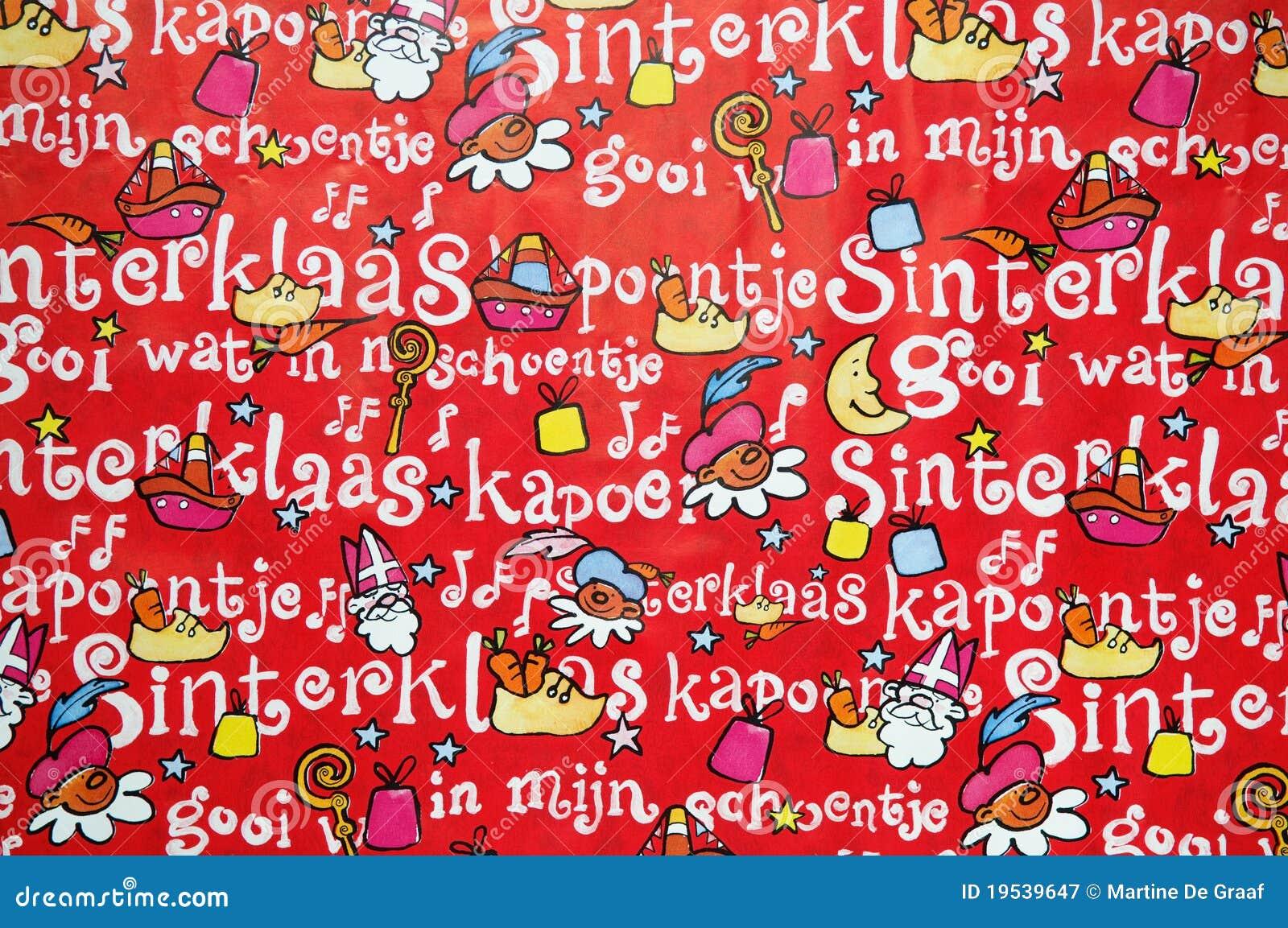 De Achtergrond Van Sinterklaas Stock Afbeelding
