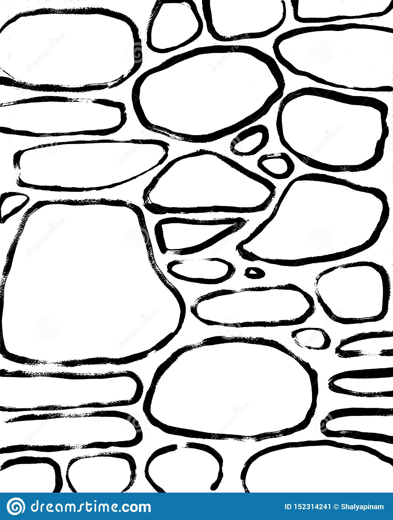De achtergrond van stenen Abstracte Hand Getrokken Binnenlandse Post