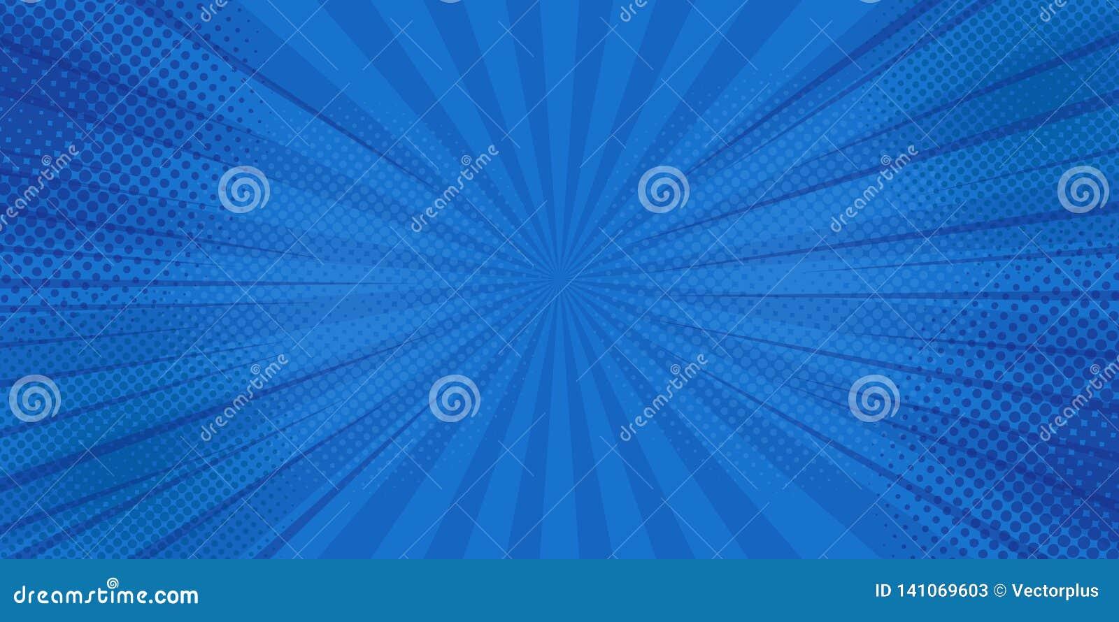 De achtergrond van strippaginastralen met halftinten Vector