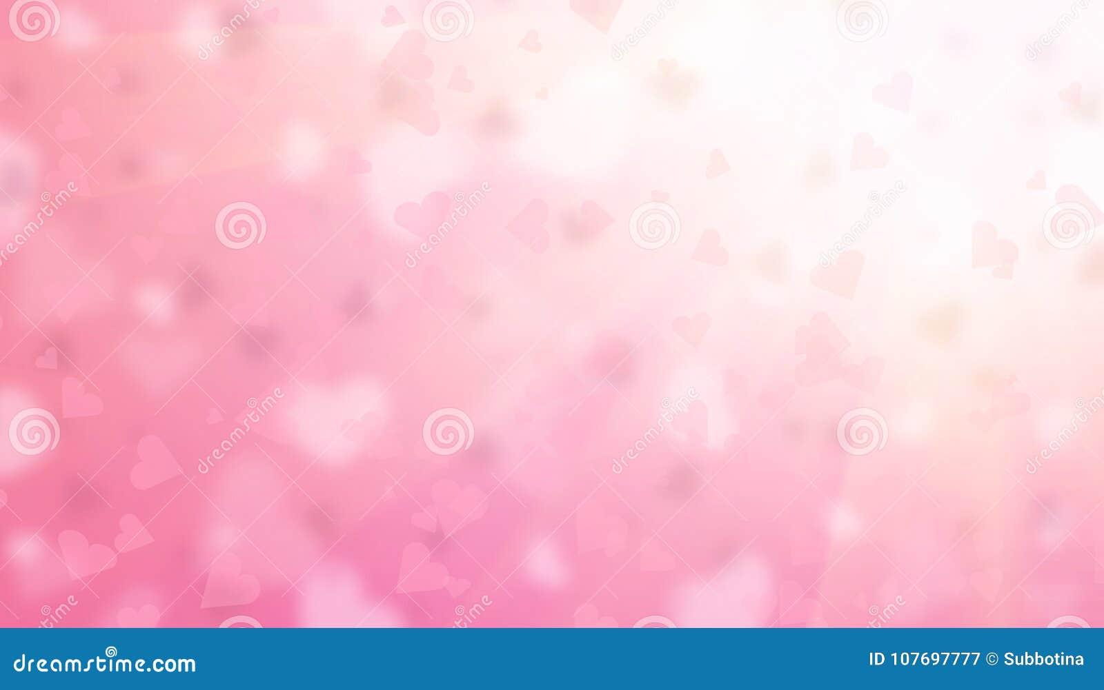 De achtergrond van de valentijnskaartendag De abstracte roze achtergrond van de hartenvakantie