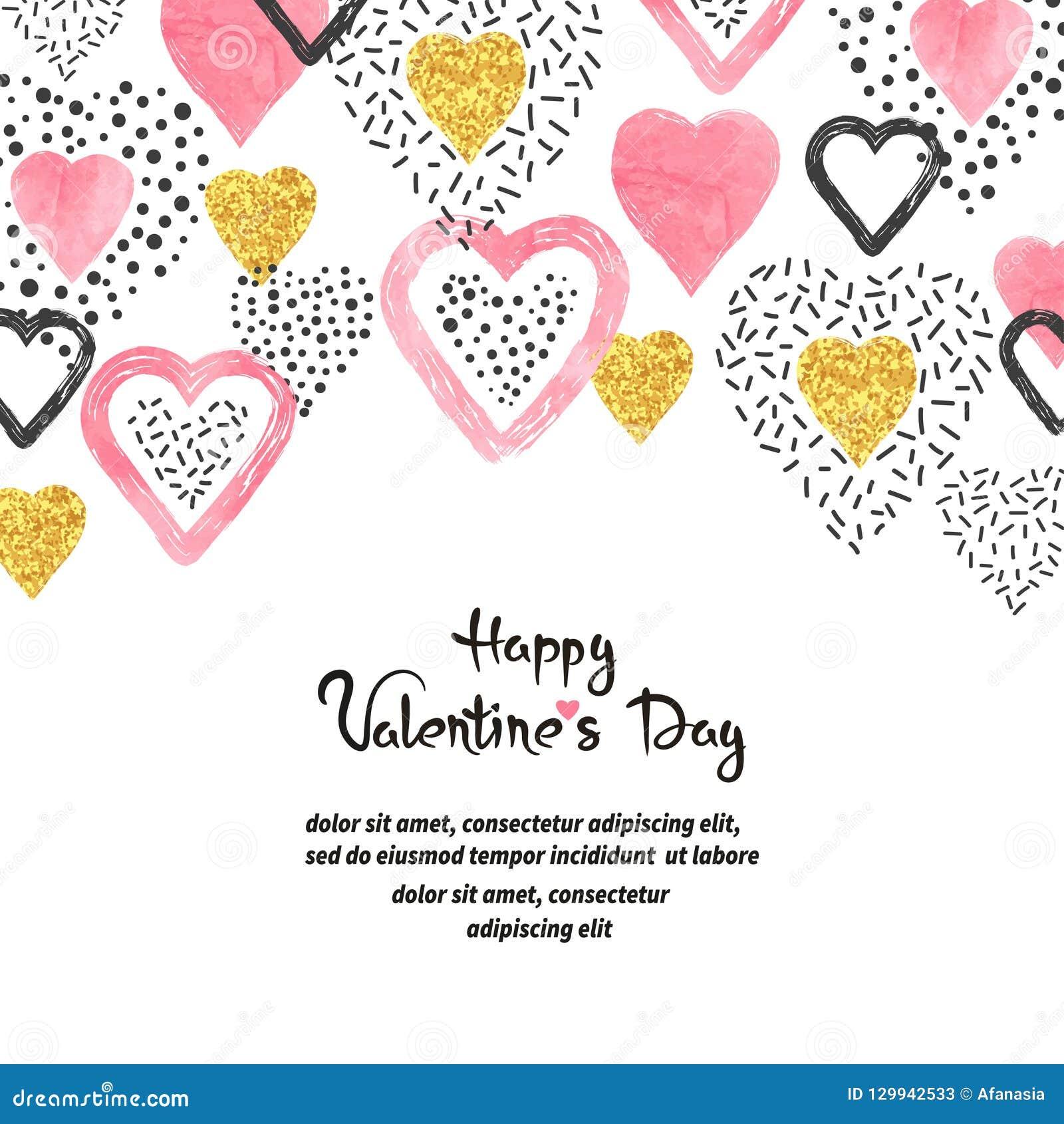 De achtergrond van de valentijnskaartendag met roze harten en plaats voor tekst