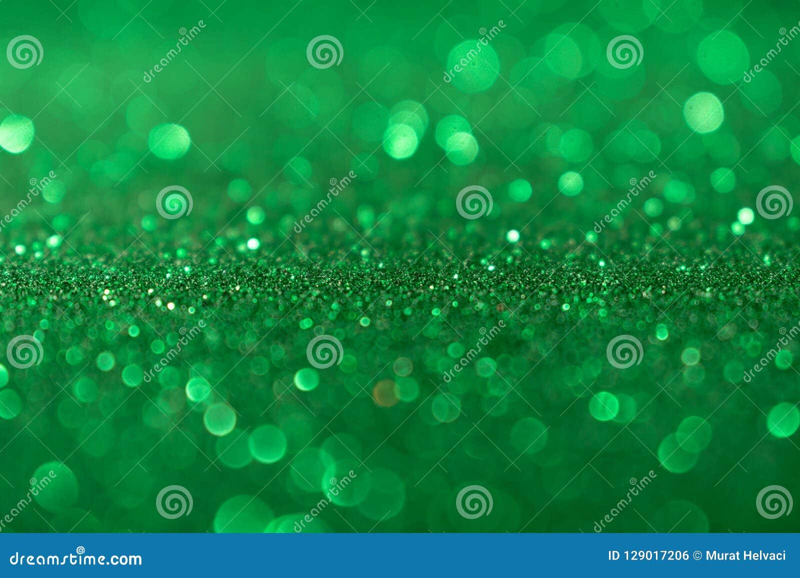 De achtergrond van Valentine Day Green Glitter van het Kerstmisnieuwjaar Stof van de vakantie de abstracte textuur Element, flits