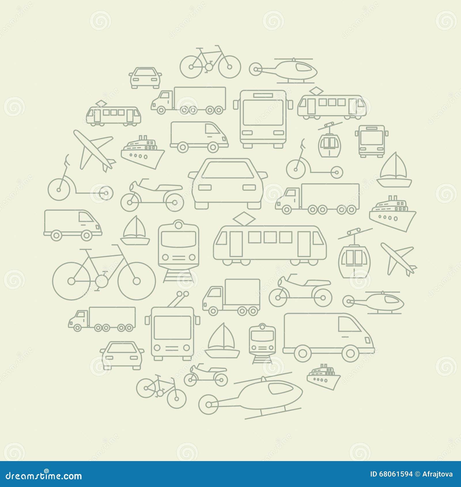 De Achtergrond van vervoerpictogrammen