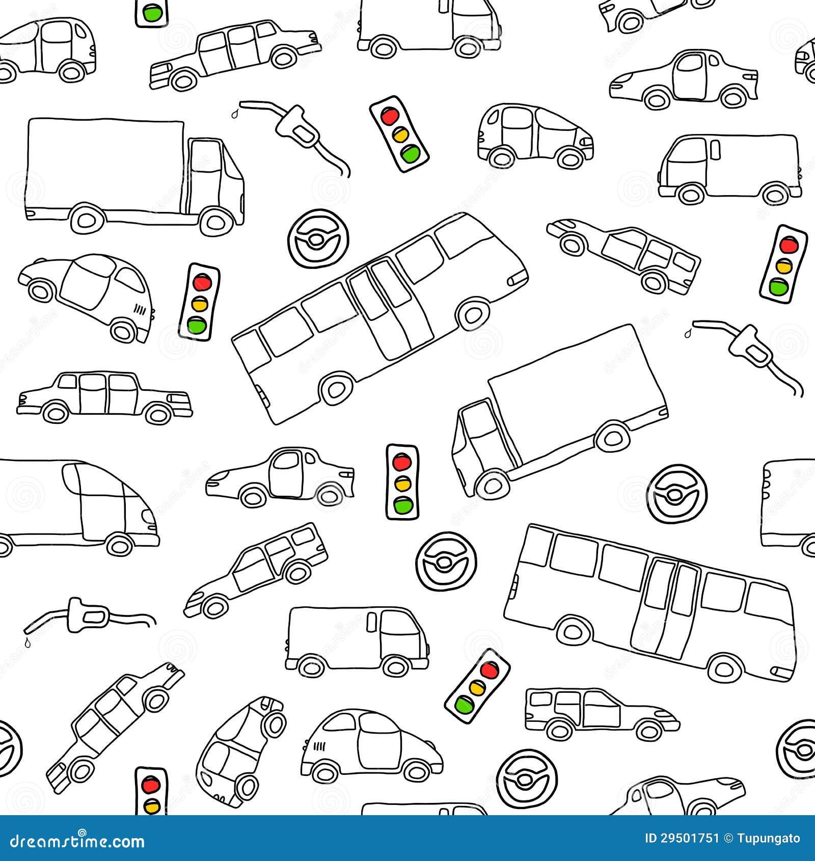 De achtergrond van voertuigen
