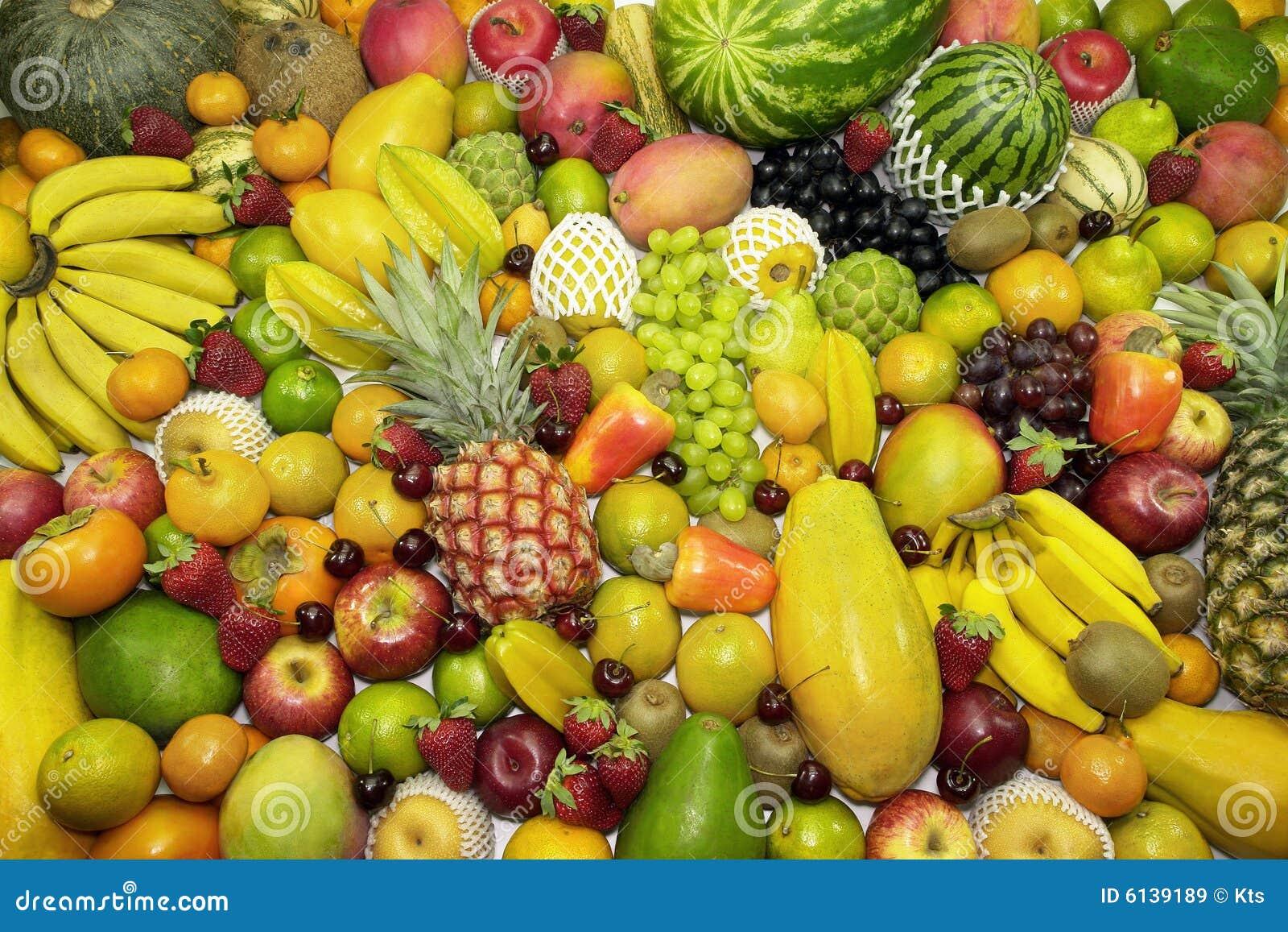 De Achtergrond van vruchten