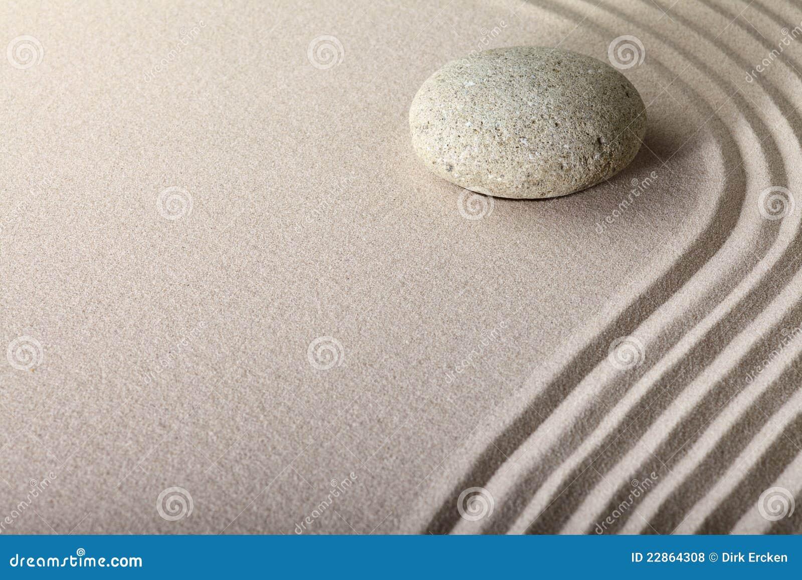 De achtergrond van Zen sand stone garden spa