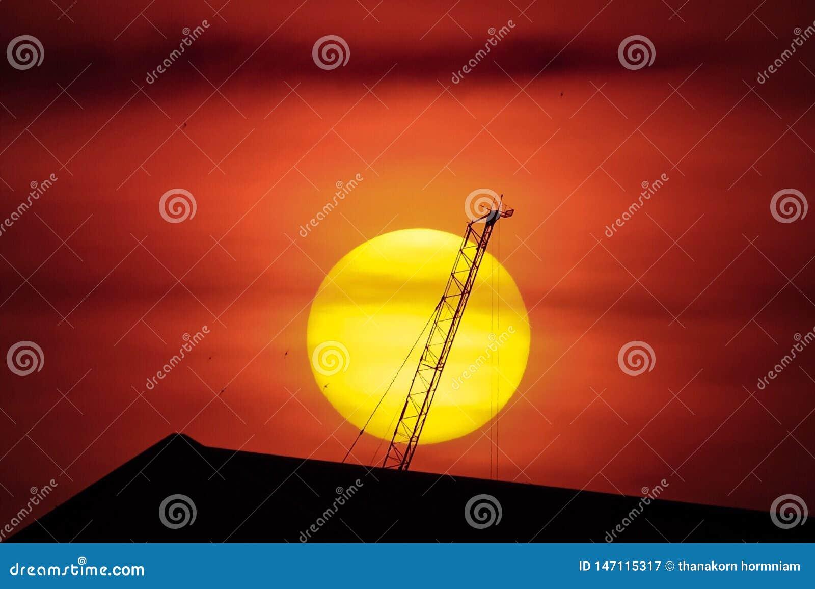 De achtergrond van de zonsondergang