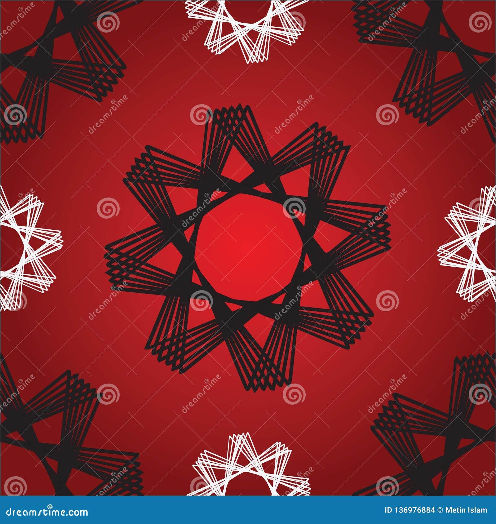 De achthoek speelt Rood Naadloos Patroon mee