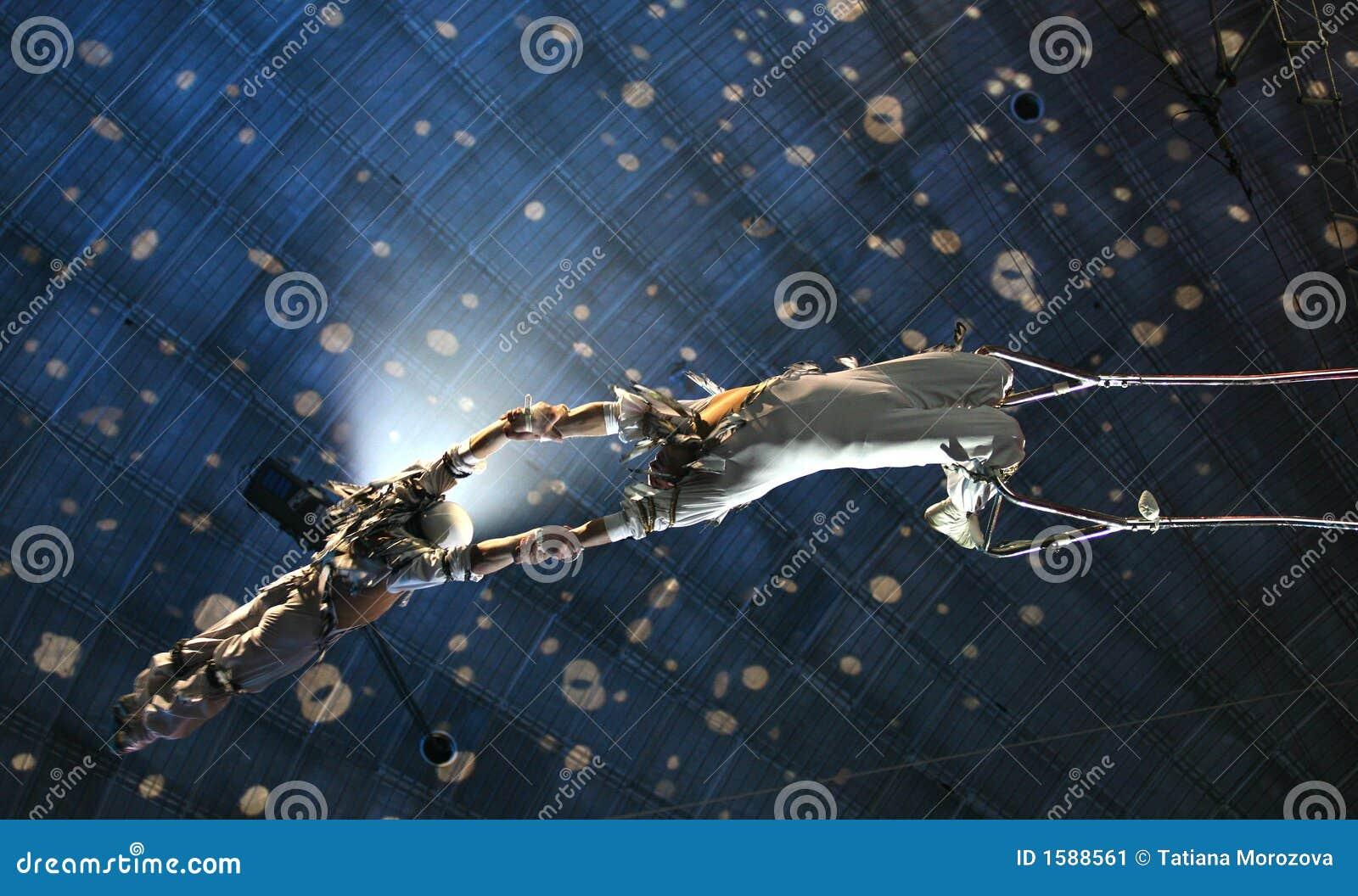 De acrobaten van de lucht