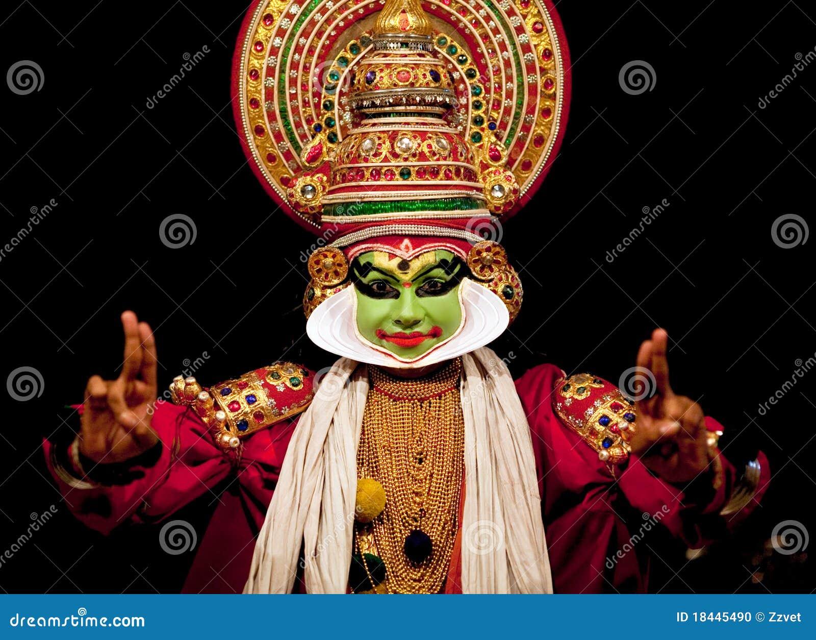 De acteur van Kathakali