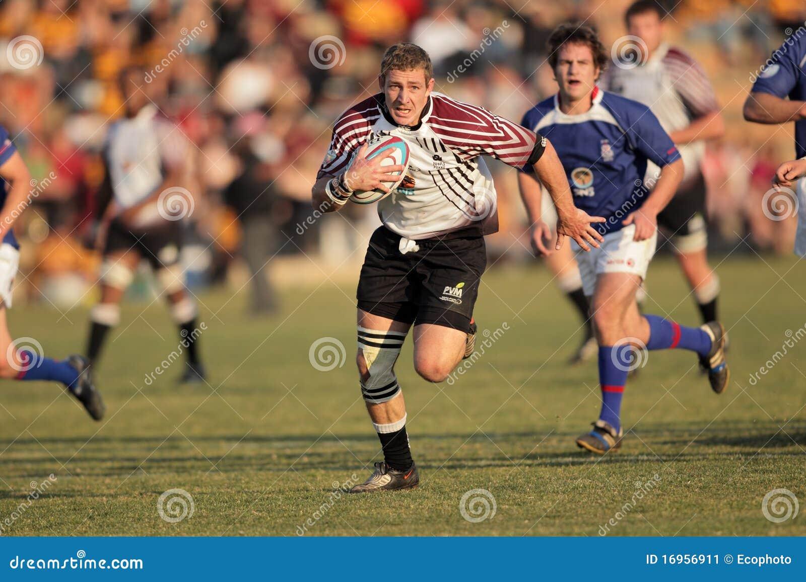 De actie van het rugby