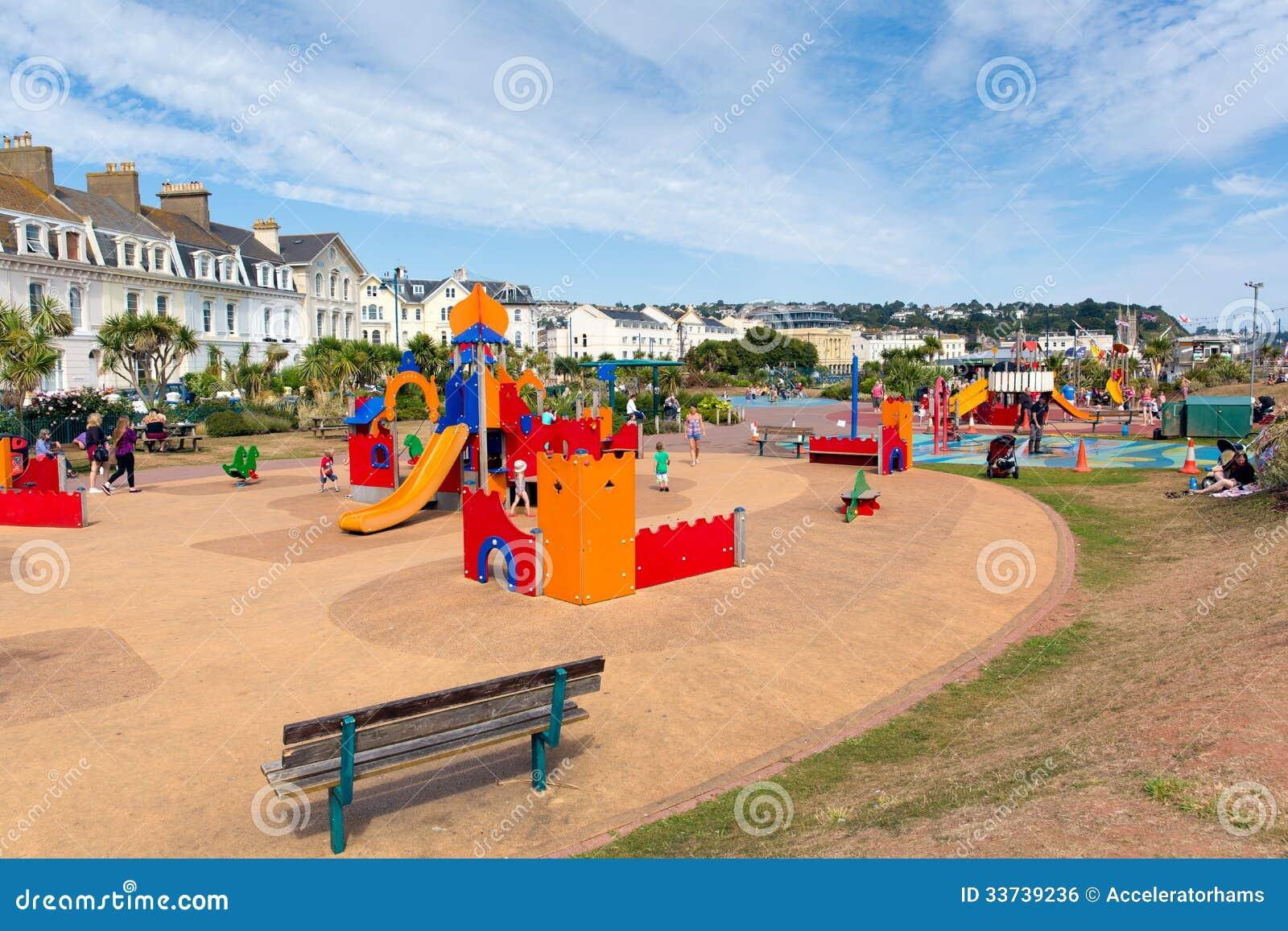 De activiteitengebied van de kinderen van Devon van de Teignmouthstrandboulevard