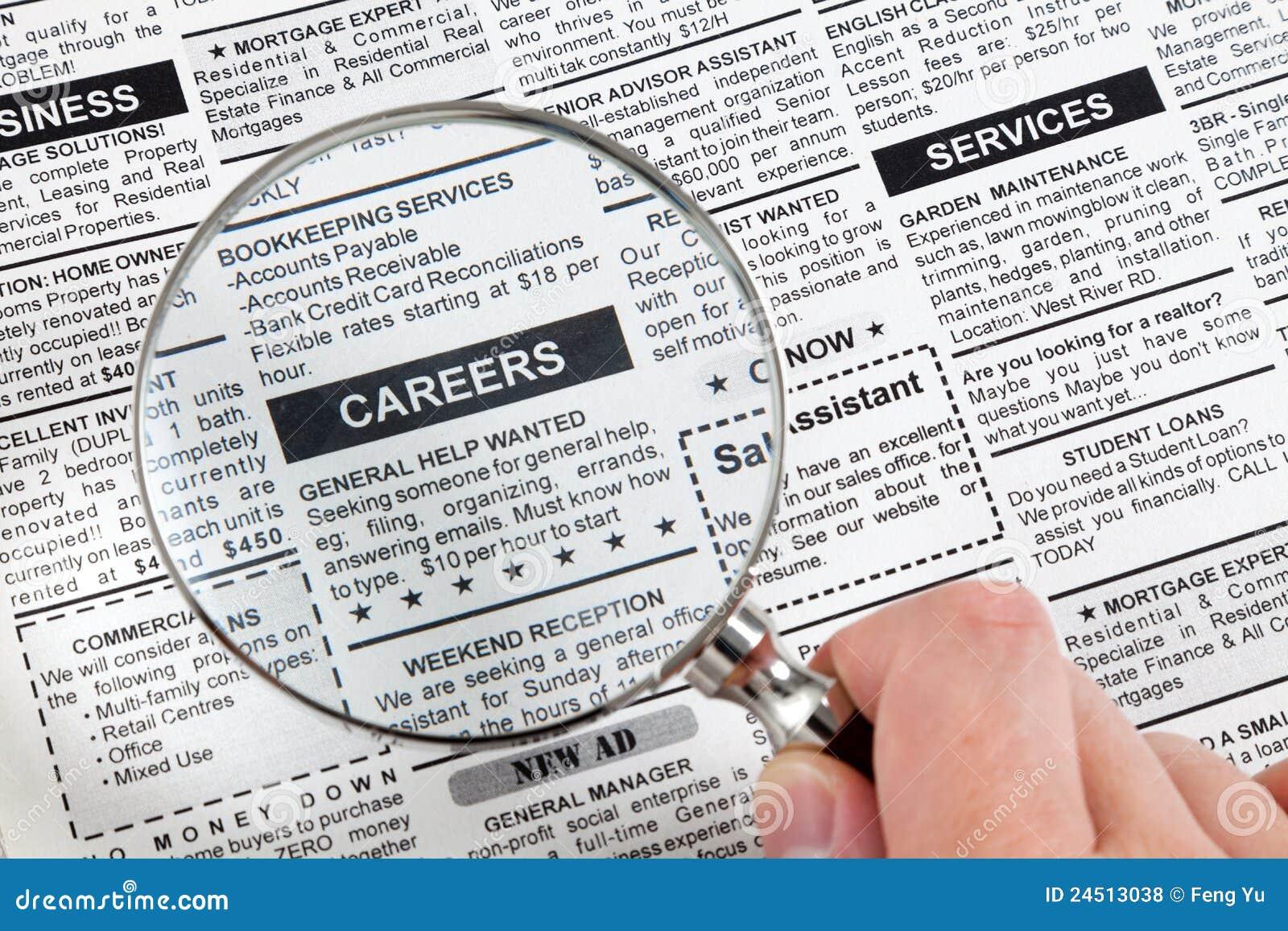 De Advertentie van de carrière
