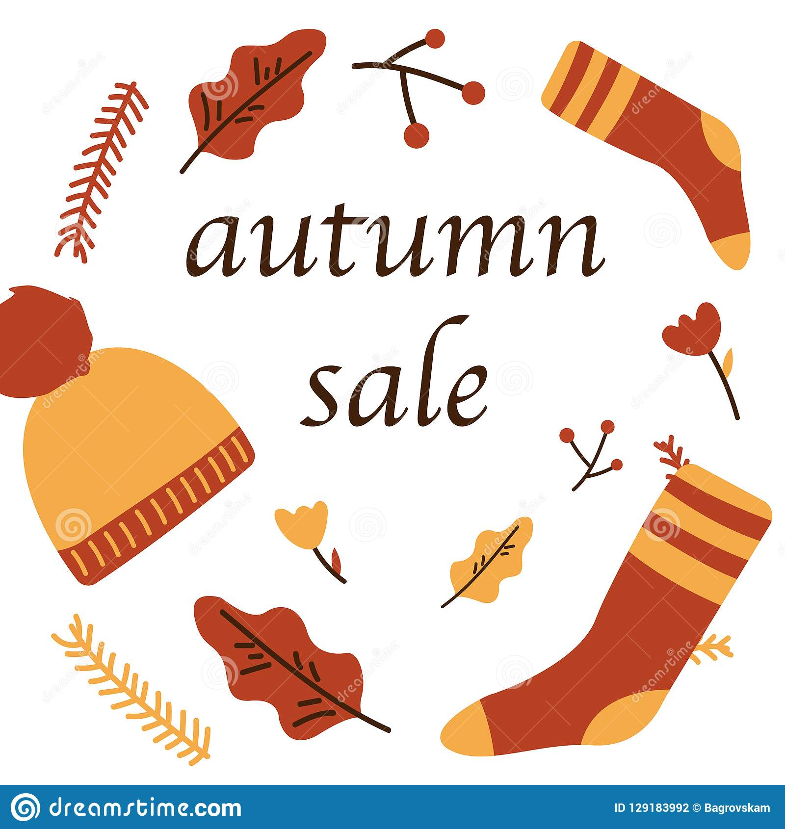 De affiche van de de herfstverkoop van het Webbanner van kortingspromo voor het herfst seizoengebonden winkelen van de vector van