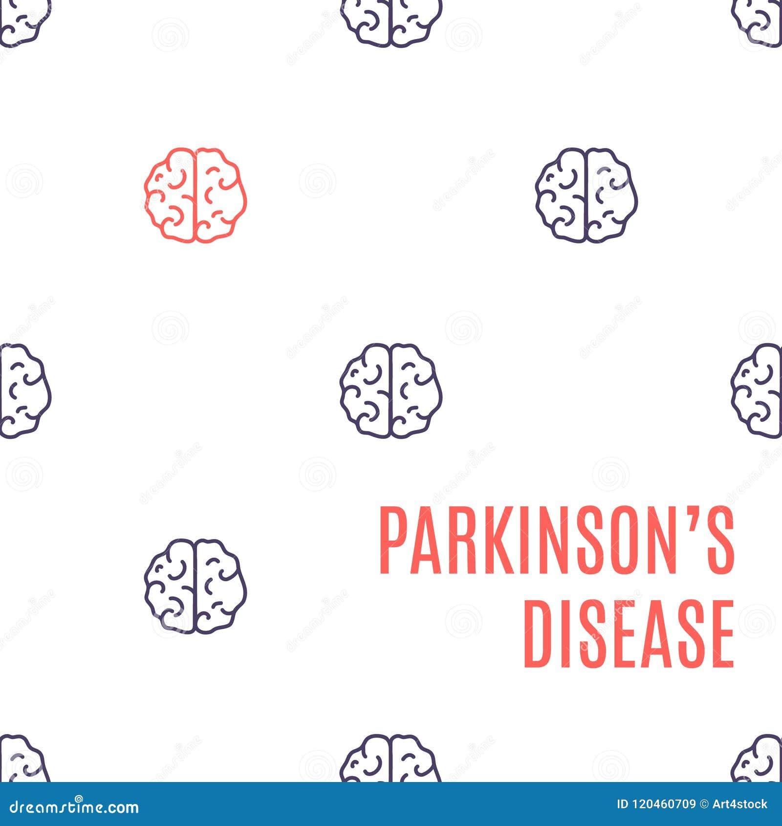De affiche van de ziektehersenen van Parkinson ` s