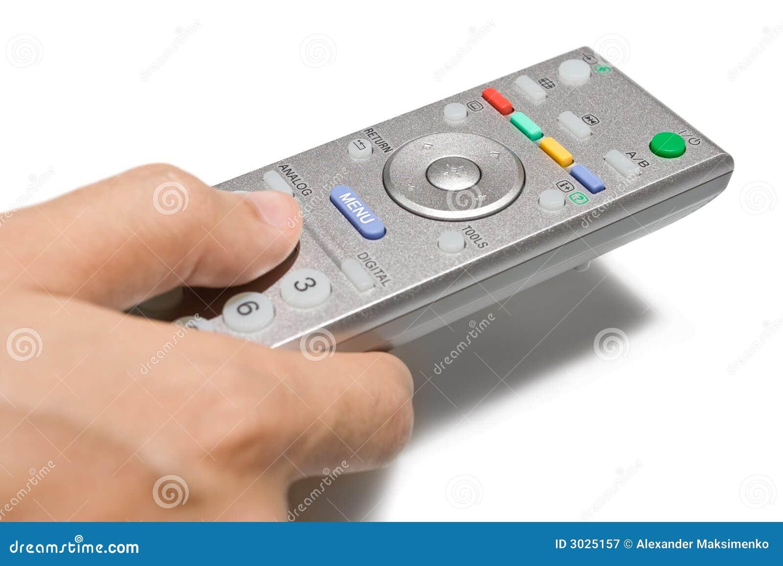 De Afstandsbediening van TV