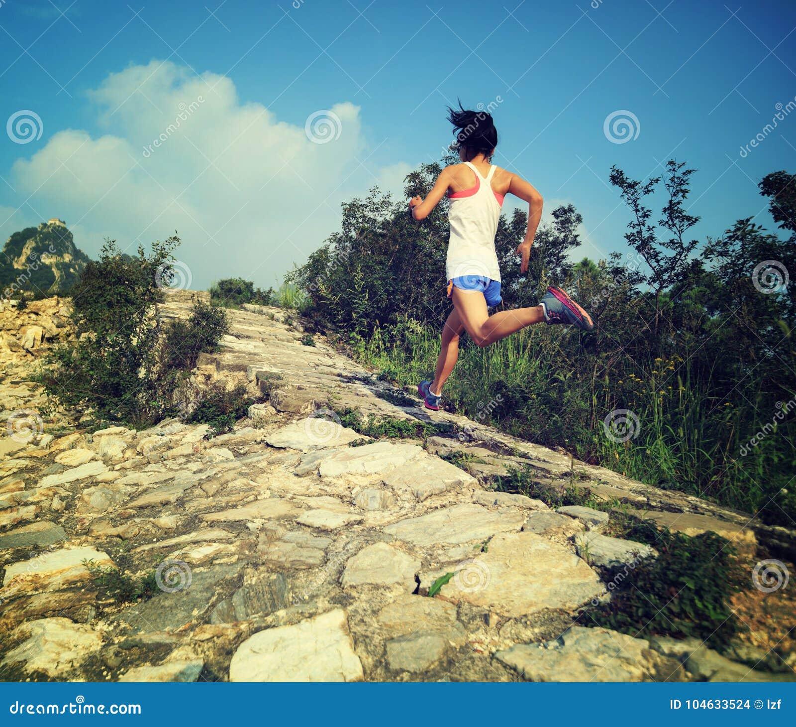 Download De Agent Die Van De Vrouwensleep Bij Grote Muur Lopen Stock Foto - Afbeelding bestaande uit wijfje, chinees: 104633524
