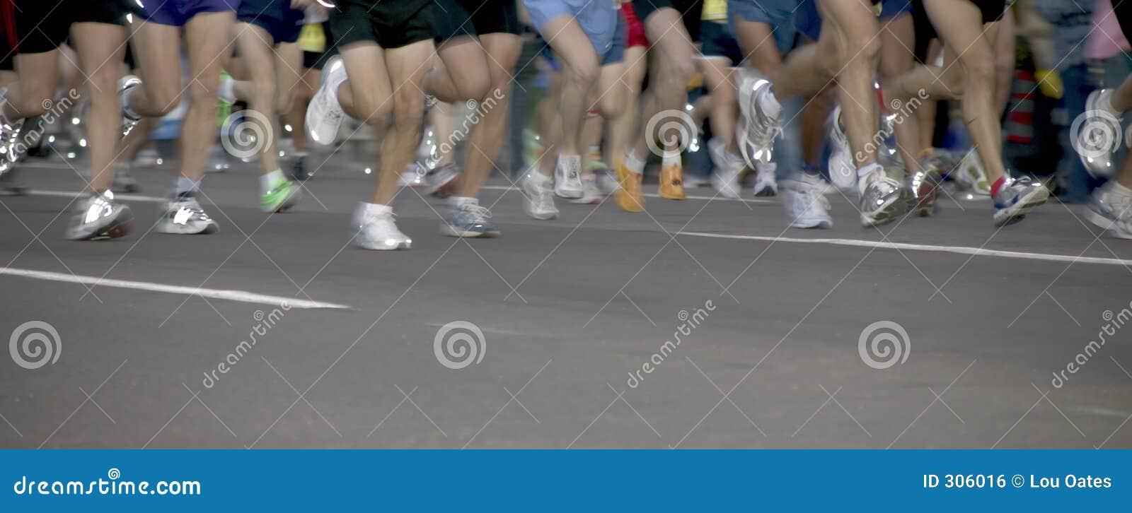 De agenten van de marathon