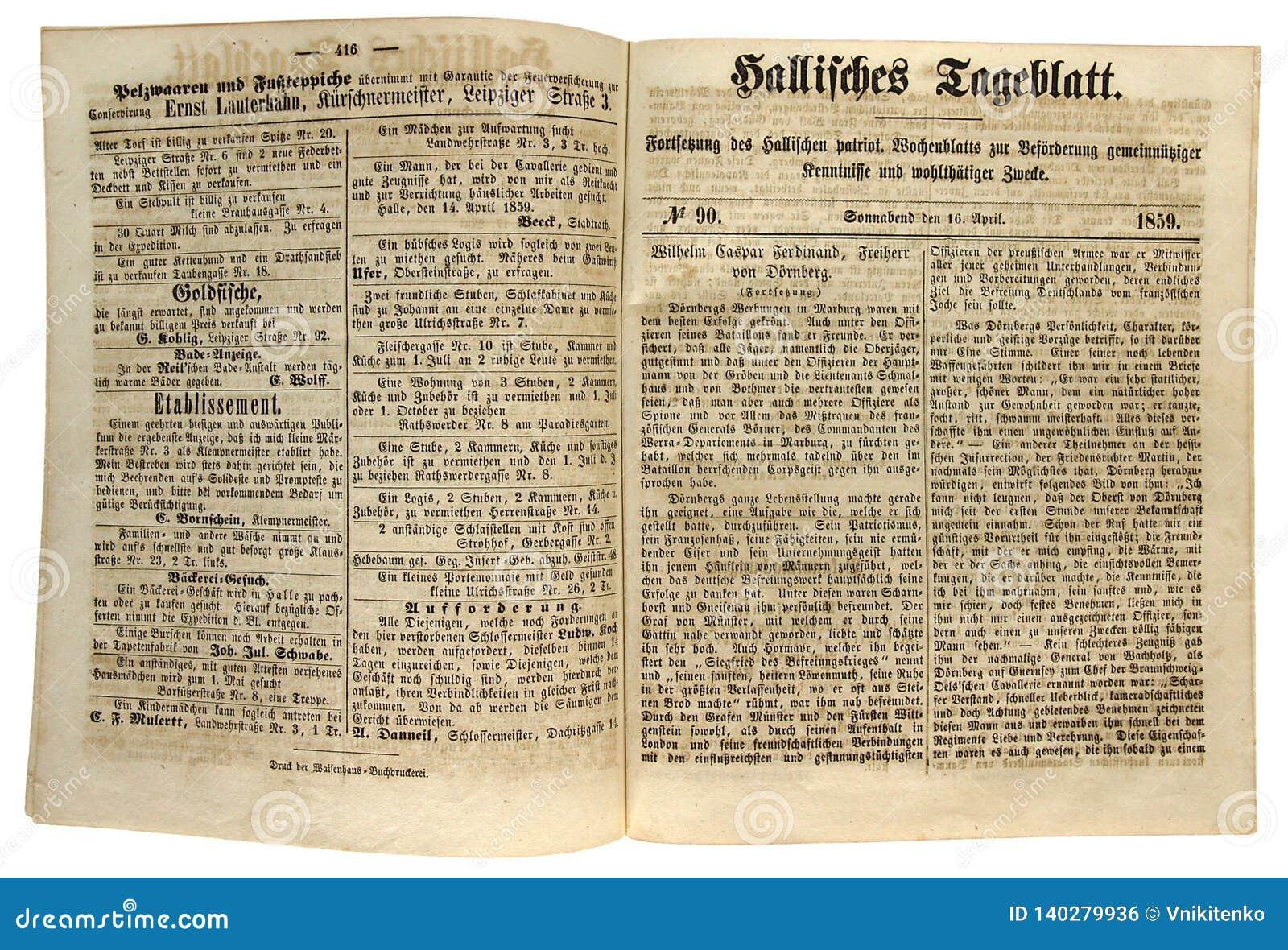 De algemene Kranten van Halle