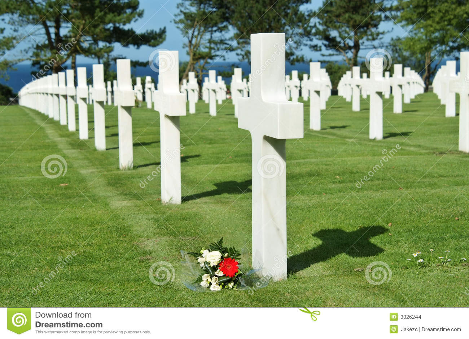 De Amerikaanse begraafplaats van Normandië