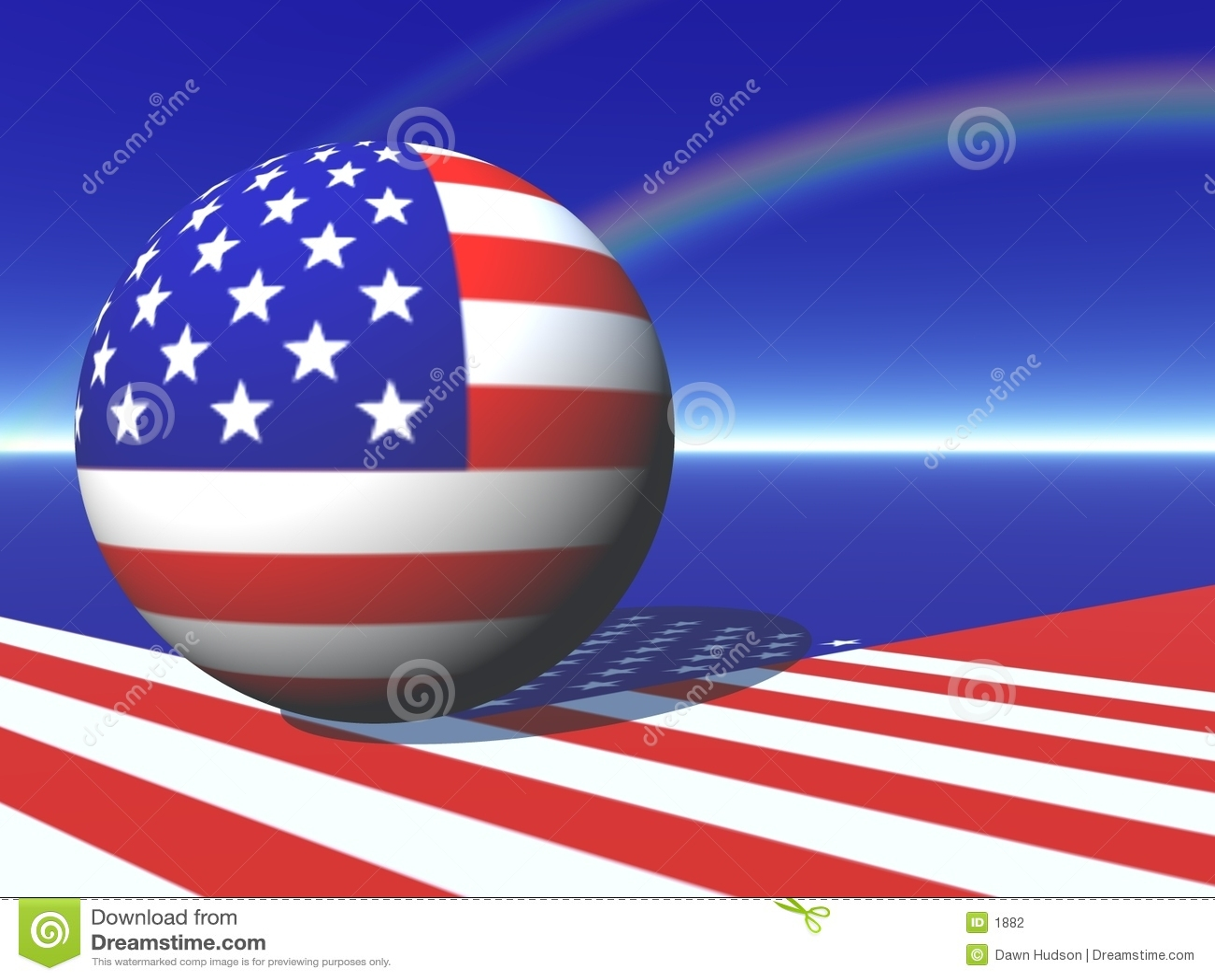 De Amerikaanse Kaart van de Bol