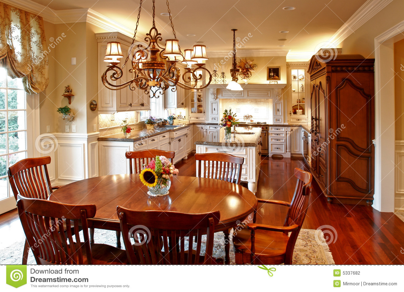 De amerikaanse keuken van de luxe stock fotografie   afbeelding ...