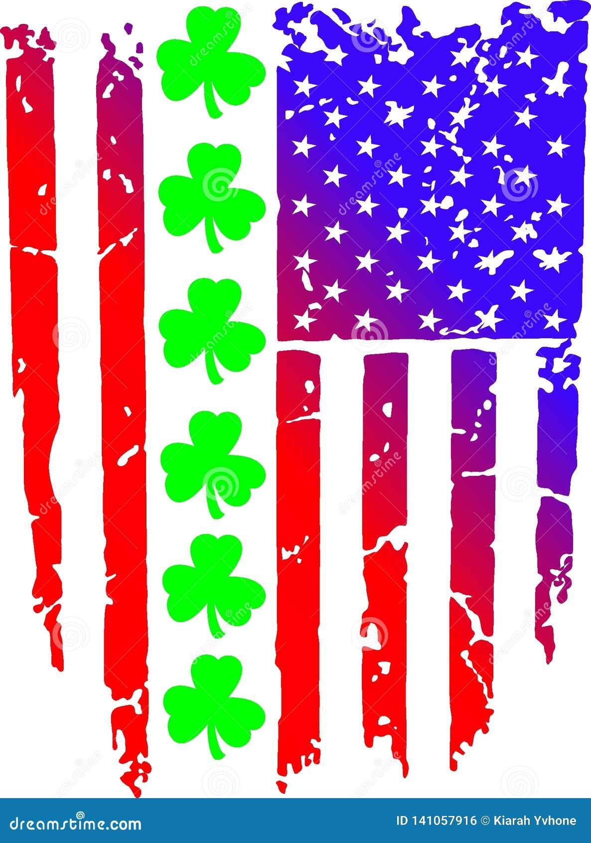 De Amerikaanse kruidnagels van vlagceltics