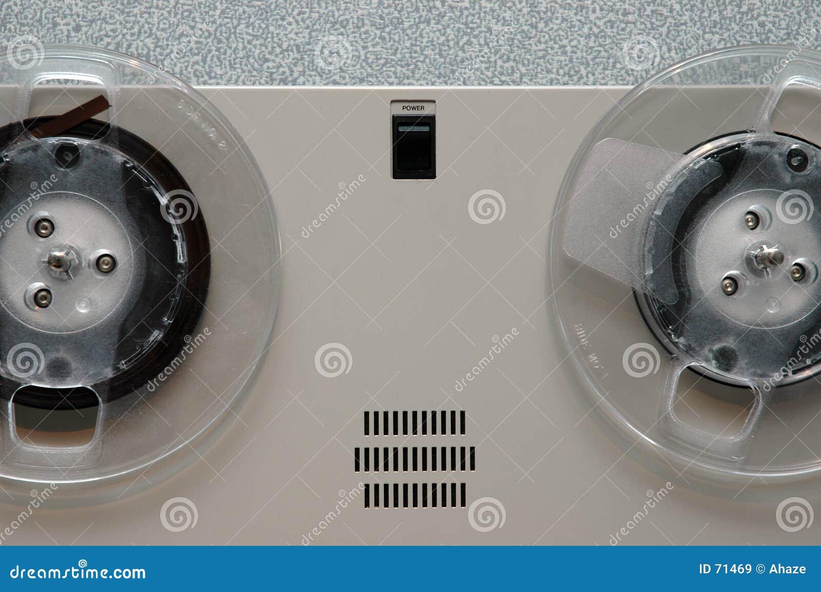 De analoge close-up van de bandmachine