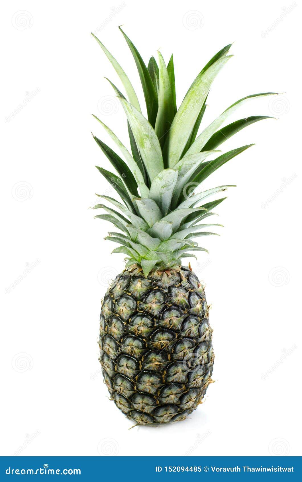 De ananas isoleert op witte achtergrond