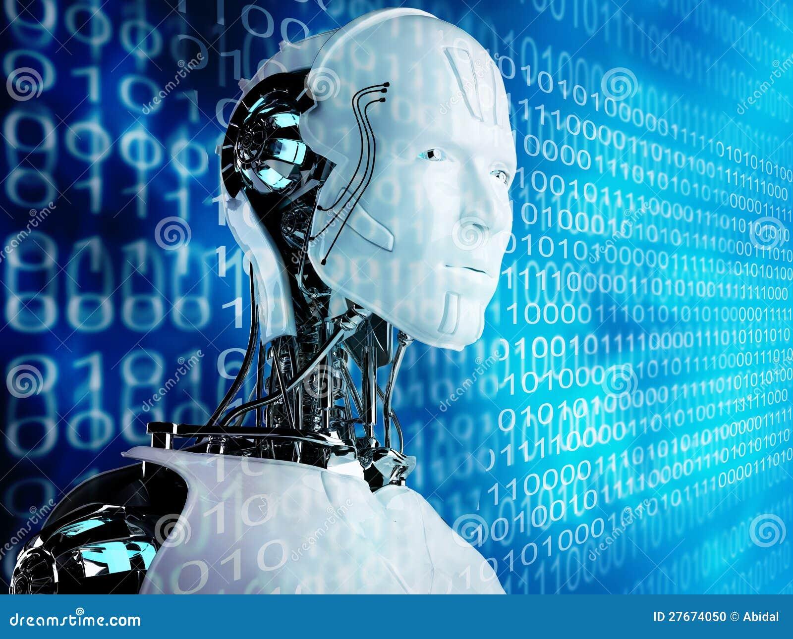 De androïde mensen van de robot