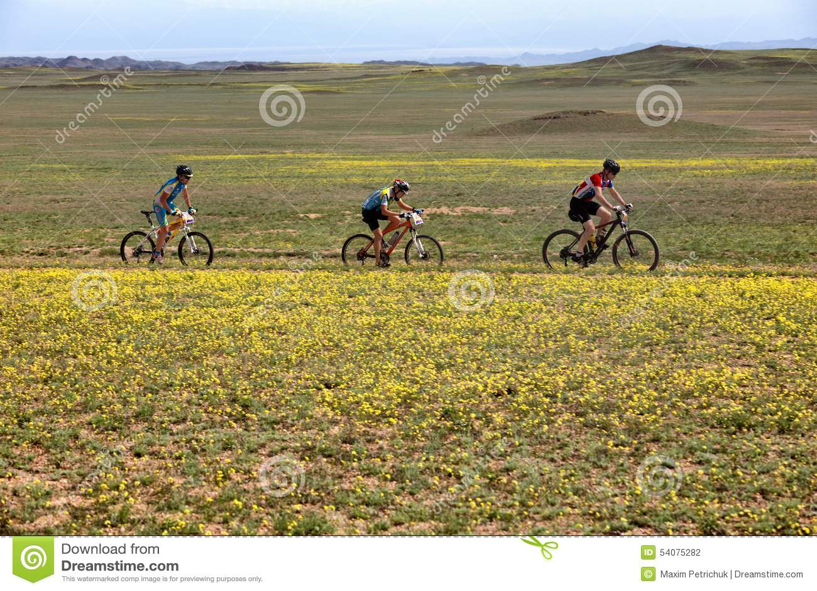 De andventureconcurrentie van de bergfiets