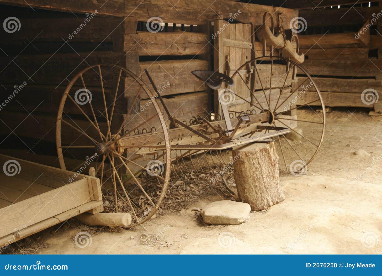 De antieke Hulpmiddelen van het Landbouwbedrijf