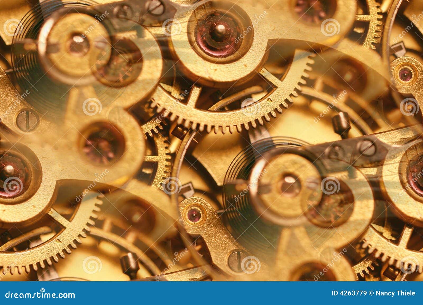 De antieke samenvatting van horloge binnenwerkingen