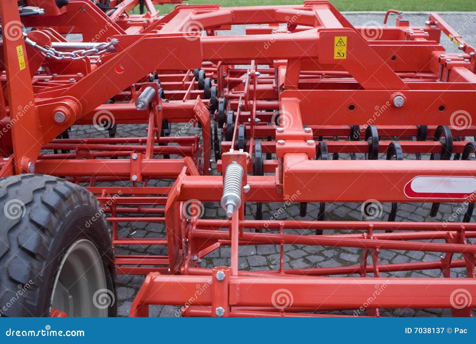 De apparatuur van het landbouwbedrijf
