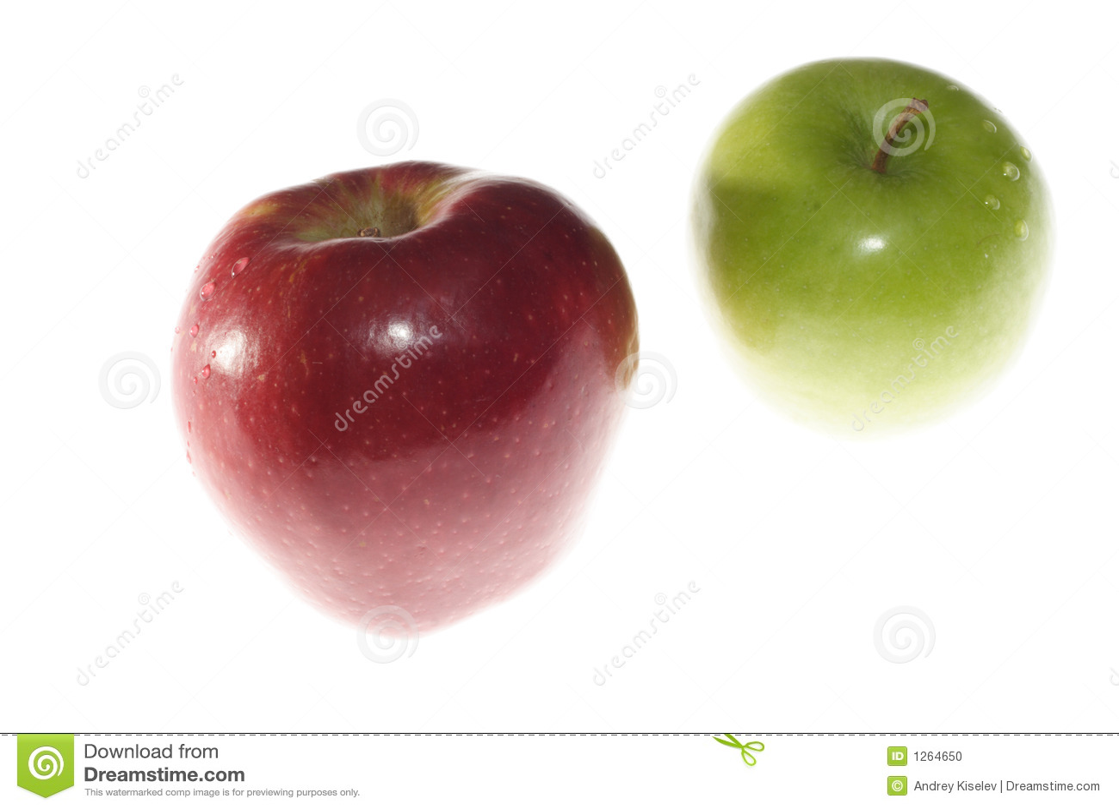 De appelen van de rij